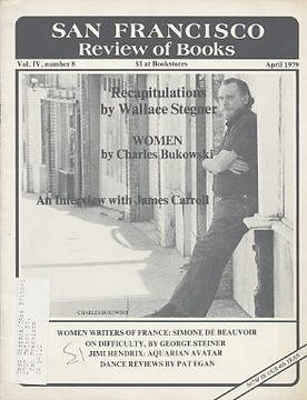 Charles Bukowski on the cover of the April 197...
