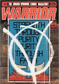 Cover of Warrior #19, highlighting the comic's...