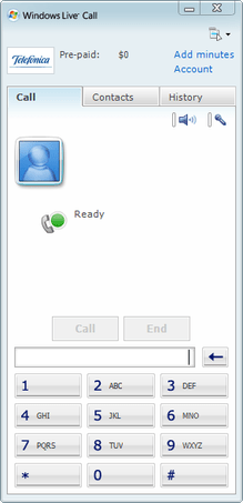 Windows Live Call in Windows Live Messenger.