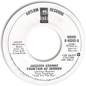 File:1975 45 Single Label Jackson Browne Fountain of Sorrow Asylum Records.jpg