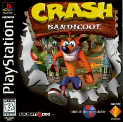 Crash Bandicoot PlayStation box art
