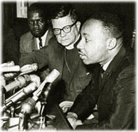 Pike with Dr. Martin Luther King, Jr. at a pre...