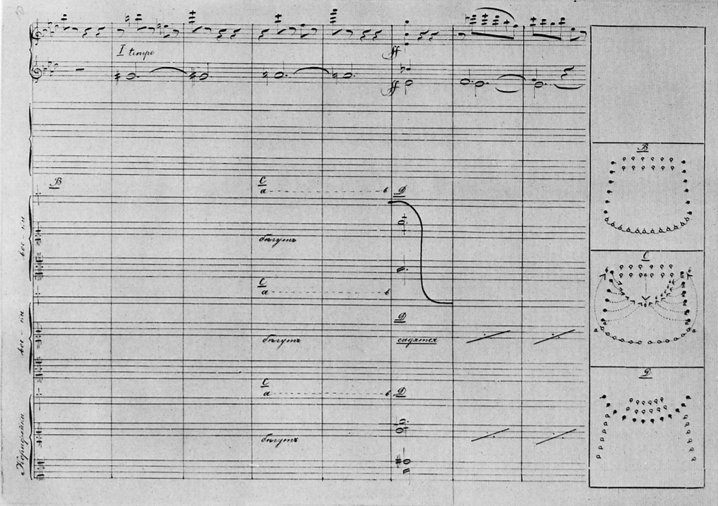 Scan of a page from the Stepanov Choreographic...