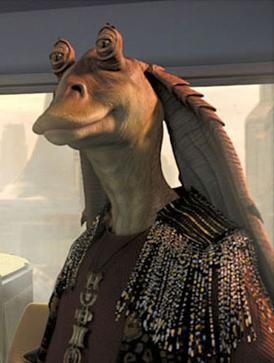 Jar Jar Binks, a Gungan