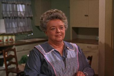 Aunt Bee (Frances Bavier) in her kitchen and a...