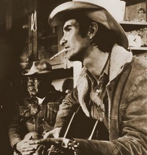 Van Zandt in the film Heartworn Highways