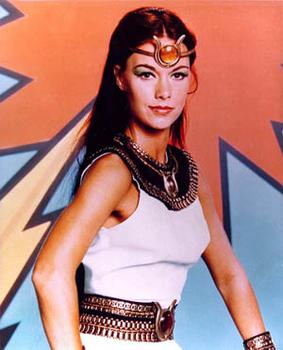 Joanna Cameron as Isis in The Secrets of Isis.