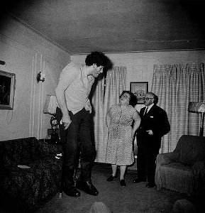 Eddie Carmel, Jewish Giant, taken at Home with...