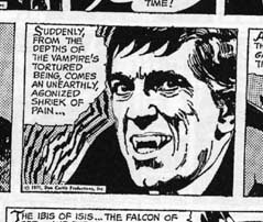 Detail from Dark Shadows newspaper comic strip...