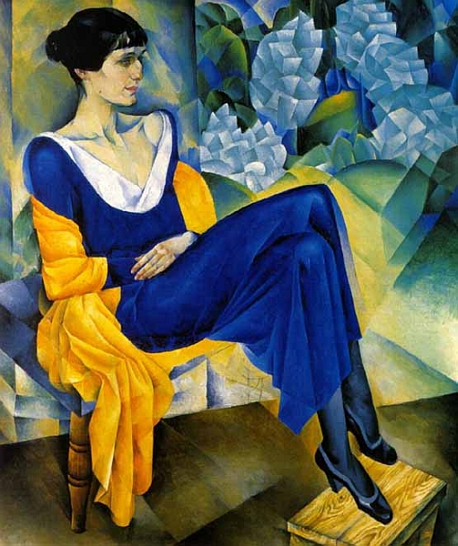 Portrait of Anna Akhmatova, by Nathan Altman, 1914. Oil on Canvas. The State Russian Museum.
