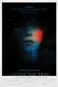 Poster for 2014 arthouse sci-fi Under The Skin