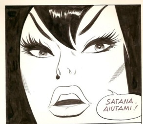 An original panel from 'Luciferá Super' 14. Pa...