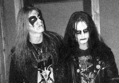 Euronymous and his bandmate Dead