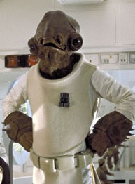 Admiral Ackbar as featured in Return of the Je...