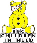 The old Pudsey bear and logo, used from 1985 t...