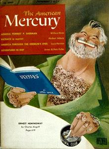 American Mercury with Al Hirschfeld's caricatu...