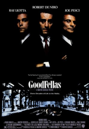 Film poster for Goodfellas - Copyright 1990, W...