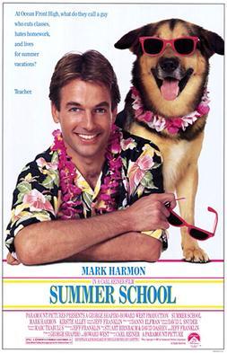 Film poster for Summer School - Copyright 1987...