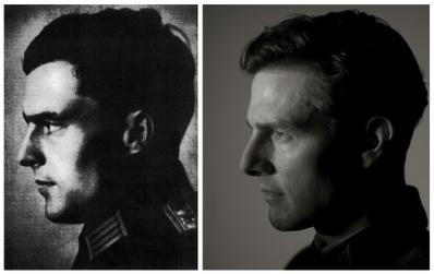 De echte Von Stauffenberg en Tom Cruise als de kolonel