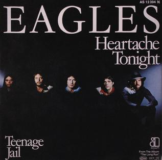Cover of The Eagles single for Heartache Tonig...