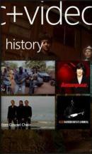 The Music + Video Hub on Windows Phone.