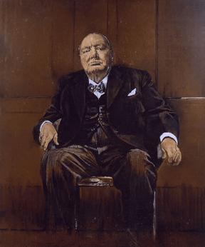 Winston Churchill Blick Auf Den Fluss Var Frankreich