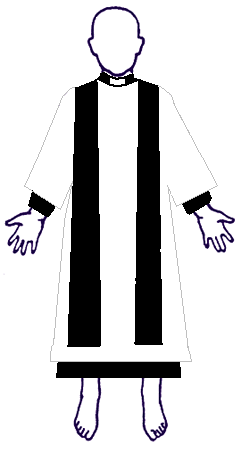 Anglican priest or deacon in choir dress