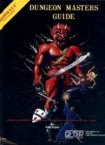 Book cover, Dungeon Masters Guide by Gary Gyga...
