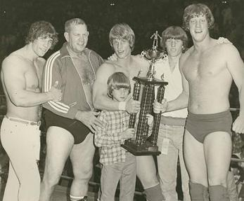 A photo of the Von Erich wrestling family (fro...