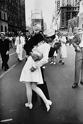 V-J Day in Times Square • By Alfred Eisenstaedt