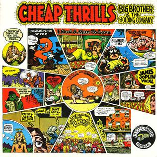 Album cover of Cheap Thrills, featuring artwork by Robert Crumb.  Copyright, 1968, Columbia Records.
