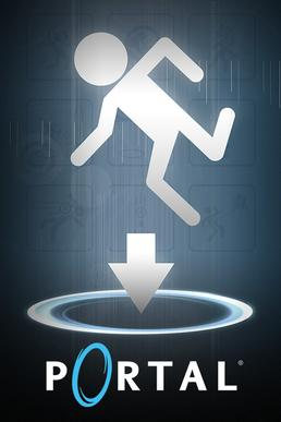 The box art for the PC version of Portal.