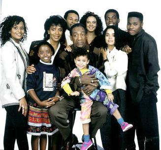The cast of The Cosby Show in 1989