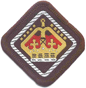 The first Queen's Scout Badge for Venture Scou...