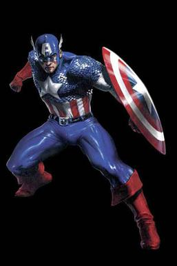 Captain America's costume displays many featur...