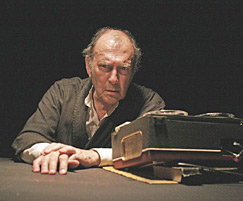 Harold Pinter as Krapp, in Krapp's Last Tape, ...