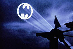The Bat-Signal as seen at the end of Batman