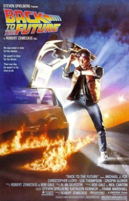 "Movie poster of ""Back to the Future"""