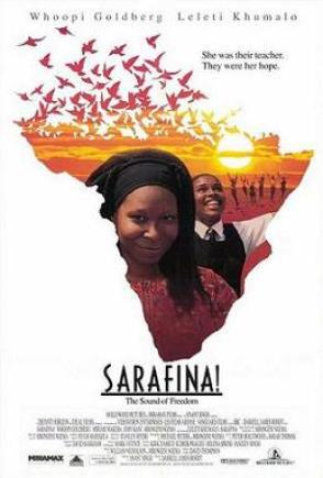 The oustanding film 'Sarafina', with Whoopi Goldberg, Miriam Makeba and Leleti Khumalo, image from https://en.wikipedia.org