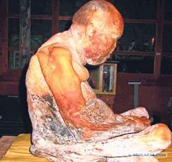 The exhumed body of Itigilov