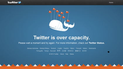 The Fail Whale courtesy Wikimedia