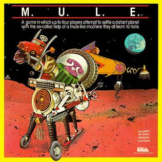 The front cover of the game M.U.L.E.