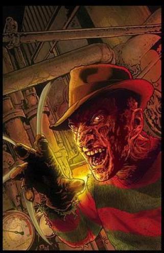 The cover to Wildstorm's A Nightmare on Elm St...