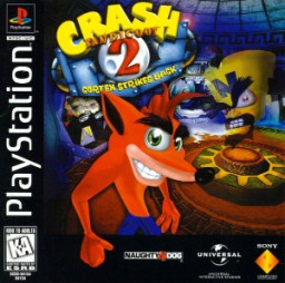 Crash Bandicoot 2: Cortex Strikes Back PlayStation box art