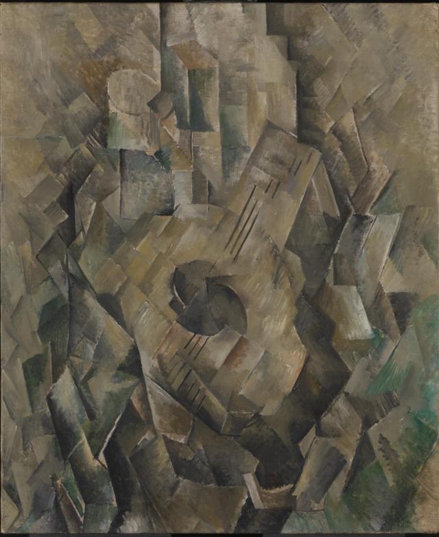 Georges Braque, 1909-10, La guitare (Mandora, La Mandore), oil on canvas, 71.1 x 55.9 cm, Tate Modern, London