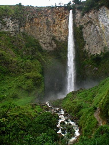 Sipiso-Piso Waterfall in Medan