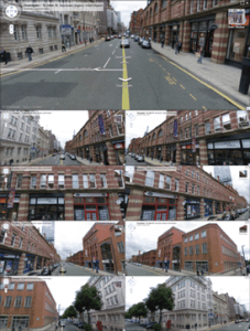 Google Street View   Wikipedia A road junction in Manchester  England  showing nine different angles