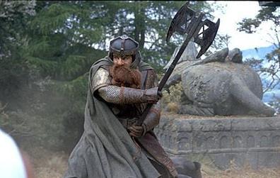 John Rhys-Davies as Gimli in The Lord of the Rings