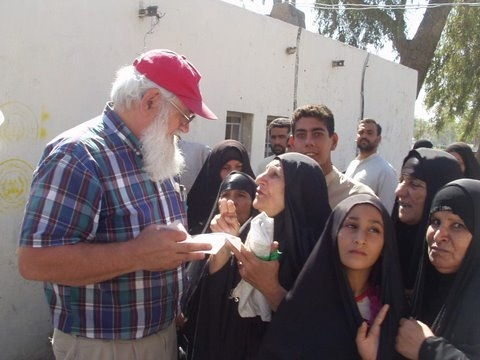 Gene Stoltzfus, founder of Christian Peacemaker Teams, in Iraq