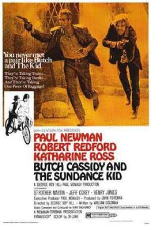 Butch Cassidy & The Sundance Kid - Poster by Tom Beauvais, image from Wikipedia